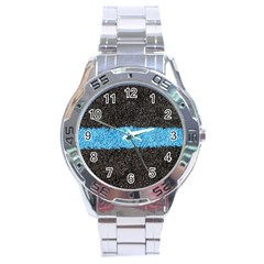Black Blue Lawn Stainless Steel Watch (men s)
