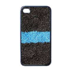 Black Blue Lawn Apple iPhone 4 Case (Black)