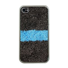 Black Blue Lawn Apple Iphone 4 Case (clear)