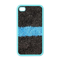 Black Blue Lawn Apple iPhone 4 Case (Color)