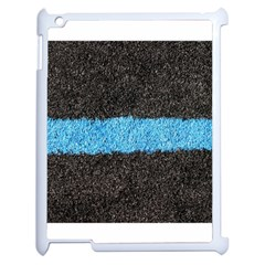 Black Blue Lawn Apple Ipad 2 Case (white)
