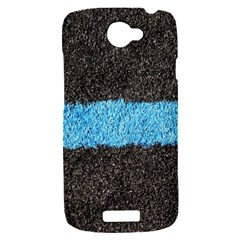 Black Blue Lawn HTC One S Hardshell Case