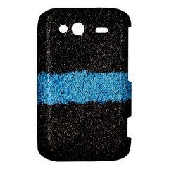 Black Blue Lawn HTC Wildfire S A510e Hardshell Case