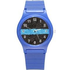 Black Blue Lawn Plastic Sport Watch (Small)