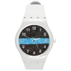 Black Blue Lawn Plastic Sport Watch (Medium)