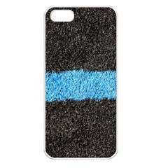 Black Blue Lawn Apple iPhone 5 Seamless Case (White)