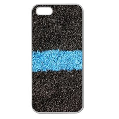 Black Blue Lawn Apple Seamless Iphone 5 Case (clear)