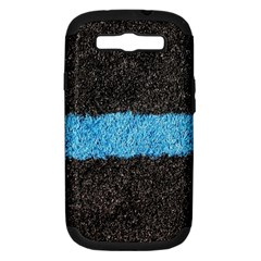 Black Blue Lawn Samsung Galaxy S Iii Hardshell Case (pc+silicone)