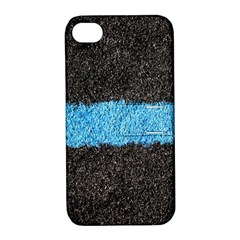 Black Blue Lawn Apple iPhone 4/4S Hardshell Case with Stand