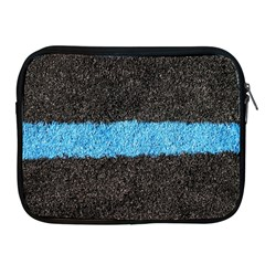 Black Blue Lawn Apple iPad 2/3/4 Zipper Case