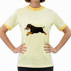Puppy 1 Womens  Ringer T Shirt (colored)