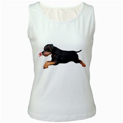Puppy 1 Womens  Tank Top (White)