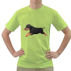 Puppy 1 Mens  T-shirt (Green)