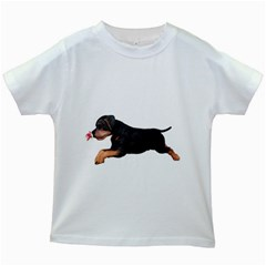 Puppy 1 Kids' T-shirt (White)
