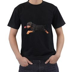 Puppy 1 Mens' Two Sided T-shirt (Black)