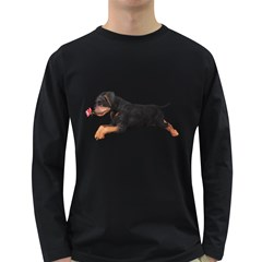 Puppy 1 Mens' Long Sleeve T-shirt (Dark Colored)