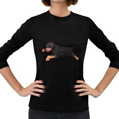 Puppy 1 Womens' Long Sleeve T-shirt (Dark Colored)