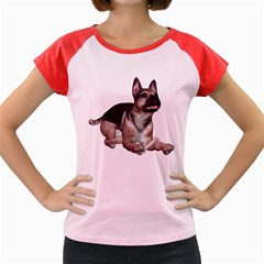 Puppy 2 Women s Cap Sleeve T Shirt (colored)
