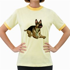 Puppy 2 Womens  Ringer T Shirt (colored)