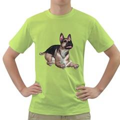 Puppy 2 Mens  T Shirt (green)