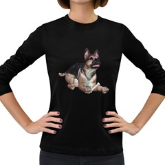 Puppy 2 Womens' Long Sleeve T Shirt (dark Colored)