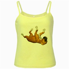 Puppy 3 Yellow Spaghetti Tank