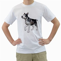 Puppy 4 Mens  T-shirt (White)