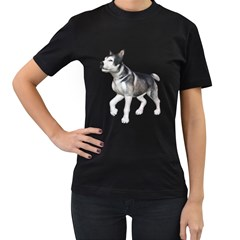 Puppy 4 Womens' T-shirt (Black)