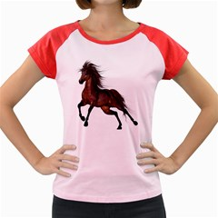 Brown Horse 1 Women s Cap Sleeve T-Shirt (Colored)