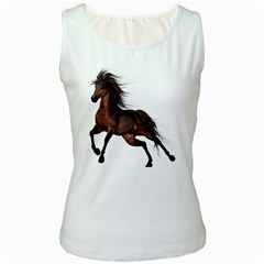 Brown Horse 1 Womens  Tank Top (White)