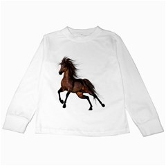 Brown Horse 1 Kids Long Sleeve T-Shirt
