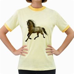 Brown Horse 2 Womens  Ringer T-shirt (Colored)