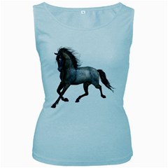 Brown Horse 2 Womens  Tank Top (baby Blue)