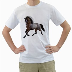 Brown Horse 2 Mens  T-shirt (White)