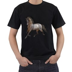 Brown Horse 2 Mens' Two Sided T-shirt (Black)