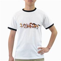 Wild Horses Herd Mens' Ringer T-shirt