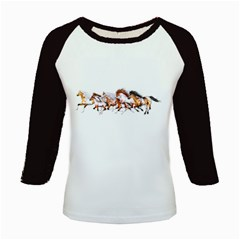 Wild Horses Herd Women s Long Cap Sleeve T Shirt