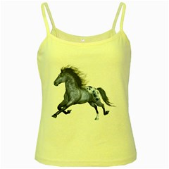 Blue Horse Yellow Spaghetti Tank