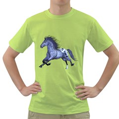 Blue Horse Mens  T Shirt (green)
