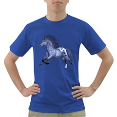 Blue Horse Mens' T Shirt (colored)