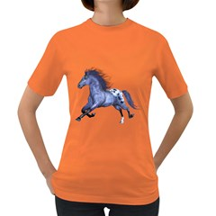 Blue Horse Womens' T-shirt (Colored)