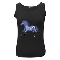 Blue Horse Womens  Tank Top (Black)