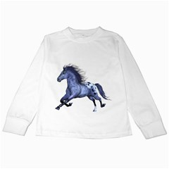 Blue Horse Kids Long Sleeve T Shirt