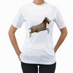 Goat 1 Womens  T-shirt (White)