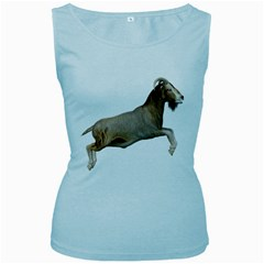 Goat 1 Womens  Tank Top (Baby Blue)