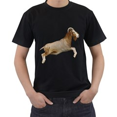 Goat 1 Mens' Two Sided T-shirt (Black)