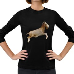 Goat 1 Womens' Long Sleeve T-shirt (Dark Colored)