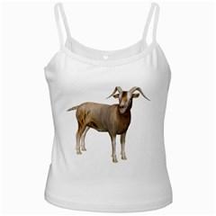 Goat 2 White Spaghetti Tank