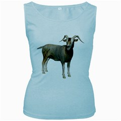 Goat 2 Womens  Tank Top (Baby Blue)