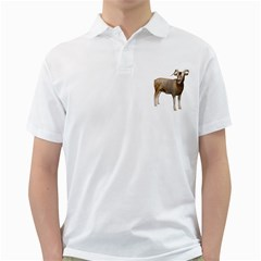 Goat 2 Mens  Polo Shirt (white)